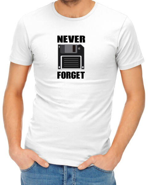 Never Forget mens short sleeve shirt