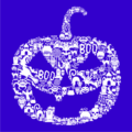 Pumpkin Face Royal Blue