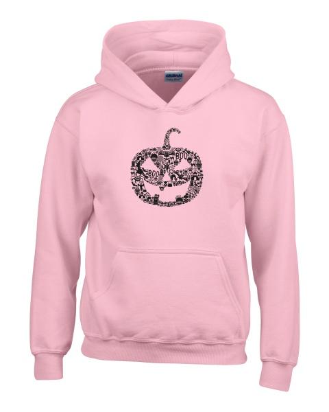 Pumpkin Face ladies hoodie