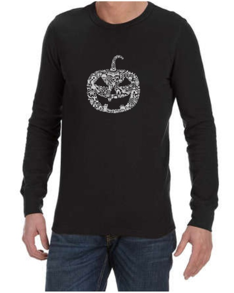 Pumpkin Face mens long sleeve