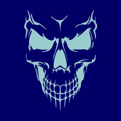 Scary Skull Face Navy