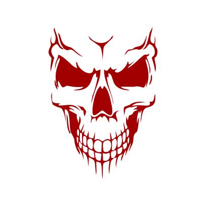 Scary Skull Face White