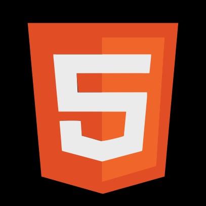 html 5 logo black