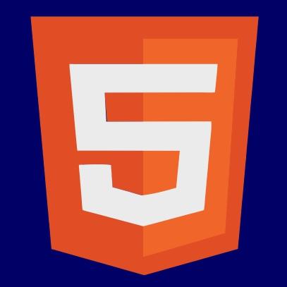 html 5 logo navy