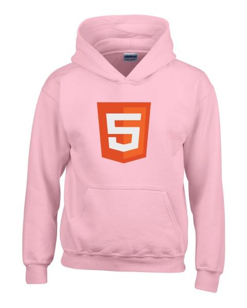 html 5 logo ladies hoodie
