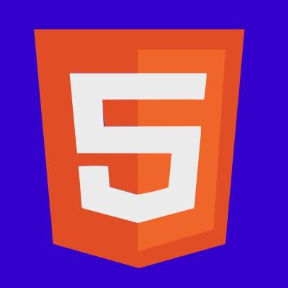 html 5 logo blue