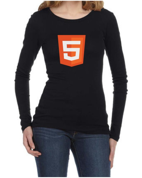 html 5 logo ladies long sleeve