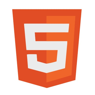 html 5 logo white