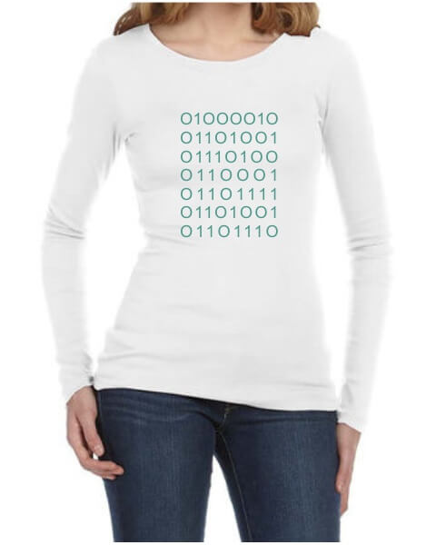 Silicon Valley plain coding ladies long sleeve shirt