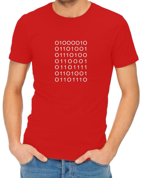 binary code bitchin tshirt