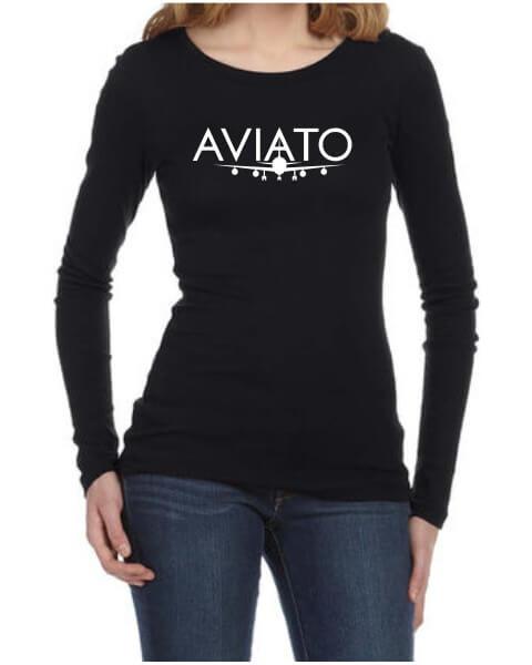 Silicon Vally Aviato plane ladies long sleeve shirt