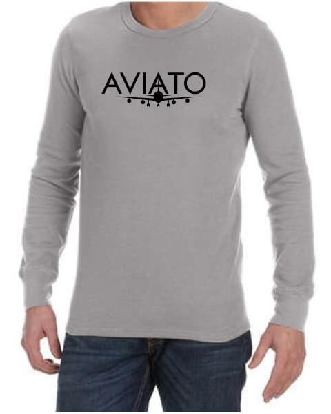 Silicon Vally Aviato plane mens long sleeve shirt