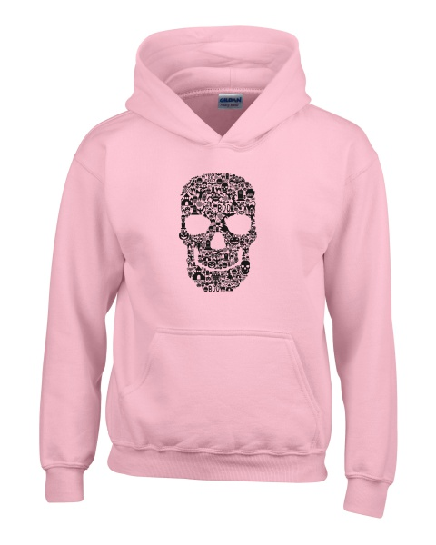 Skull Face Collage ladies hoodie