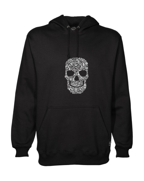 Skull Face Collage mens hoodie