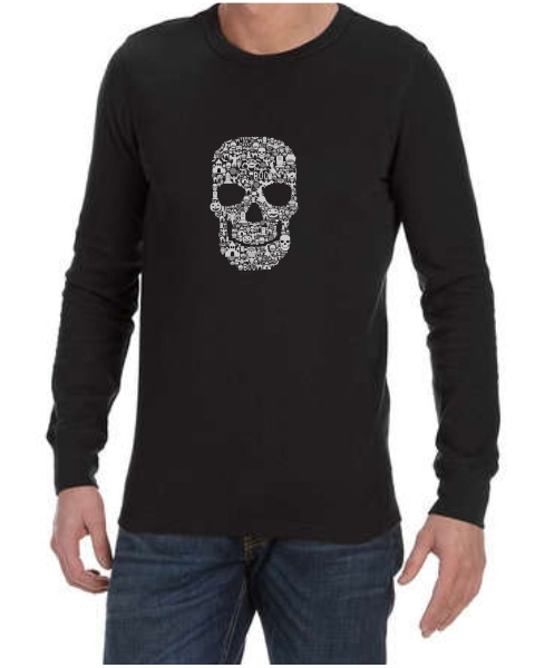 Skull Face Collage mens long sleeve
