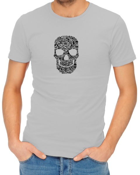 Skull Face Collage mens short sleeve