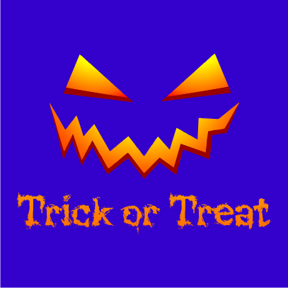 Trick or Treat Royal Blue