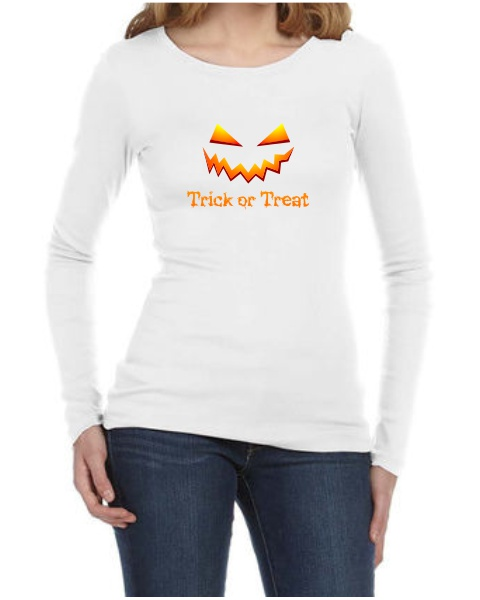 Trick or Treat ladies long sleeve