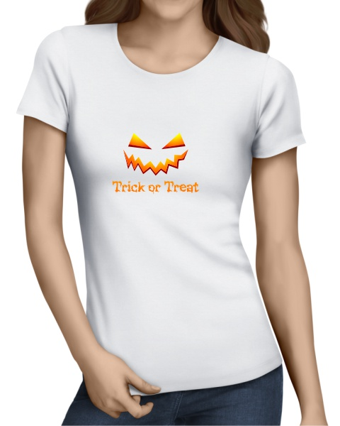 Trick or Treat ladies short sleeve