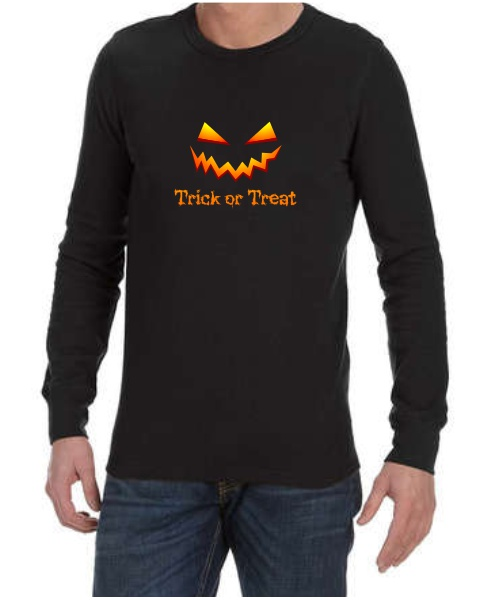 Trick or Treat mens long sleeve