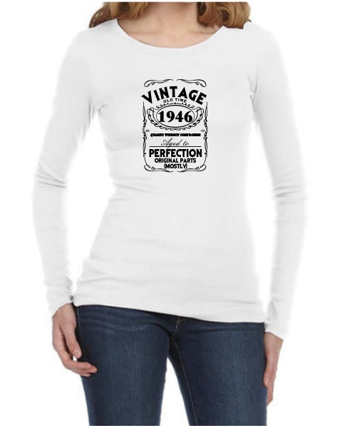 Vintage ladies long sleeve