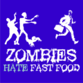 Zombies Hate Fast Food Royal Blue