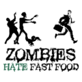 Zombies Hate Fast Food White