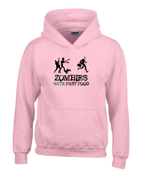 Zombies Hate Fast Food ladies hoodie