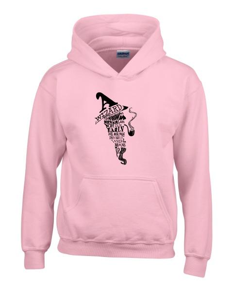 a wizard is never late ladies hoodie