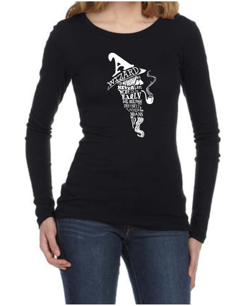 a wizard is never late ladies long sleeve