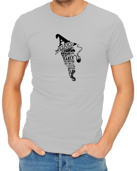 a wizard is never late mens short sleeve