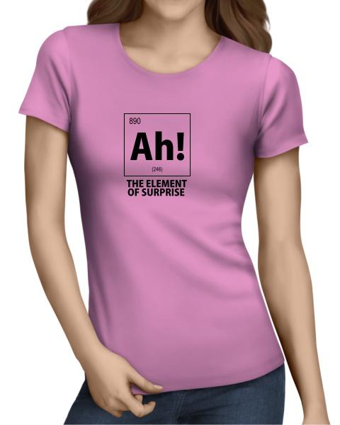 ah the element of surprise nerdy ladies short sleeve