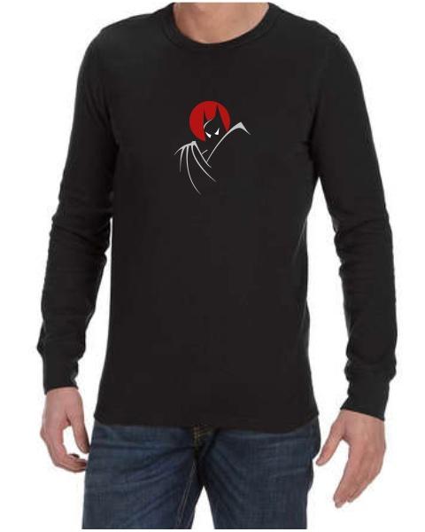 batman moonlight mens long sleeve