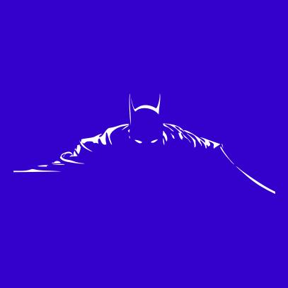 batman silhouette royal blue
