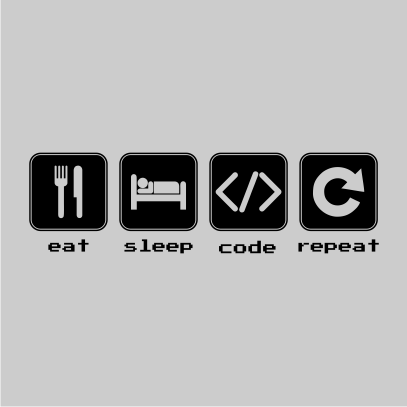eat sleep code grey