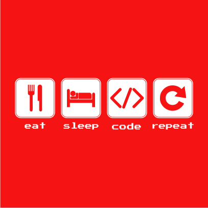 eat sleep code red