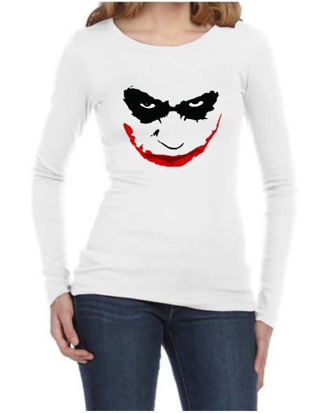 joker smile ladies long sleeve
