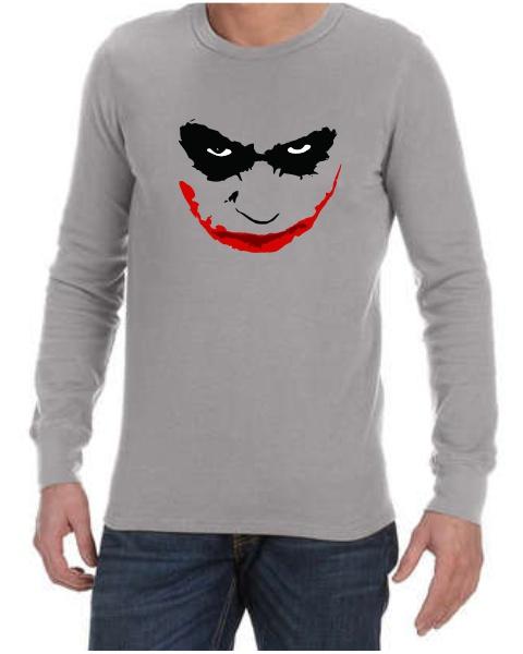 joker smile mens long sleeve