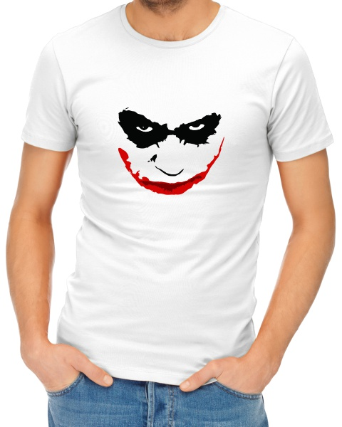 joker smile mens short sleeve