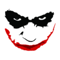 joker smile white