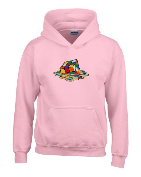 melting rubiks ladies hoodie