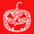 pumpkin halloween t-shirt red
