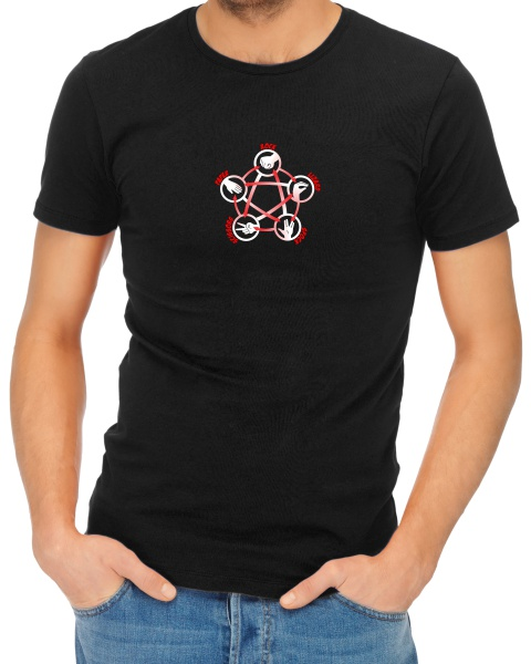 rock paper scissors lizard spock mens short sleeve