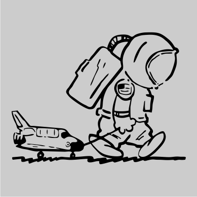sad spaceman grey