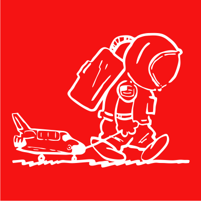 sad spaceman red