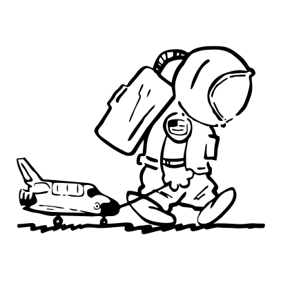 sad spaceman white