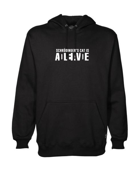 schrodingers cat mens hoodie