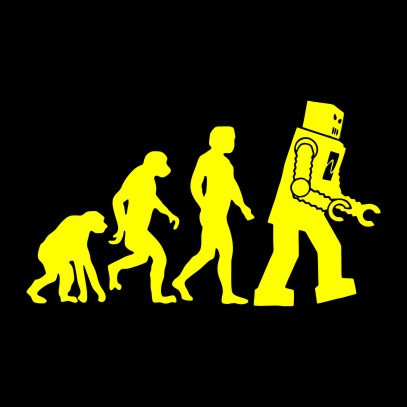 robot evolution black