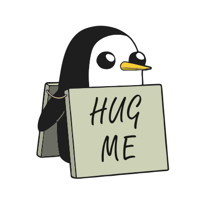 Hug Me Penguin JuiceBubble T Shirts