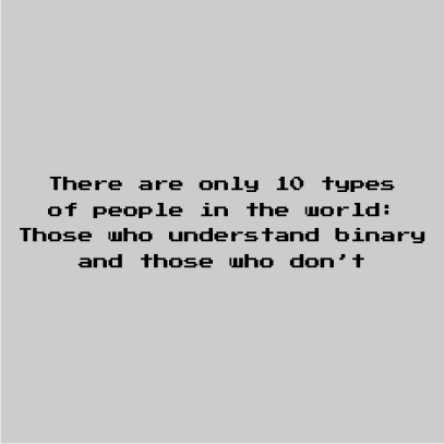 10 types of people grey square